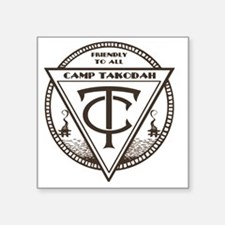 "YMCA Camp Takodah Square Sticker 3"" x 3"""