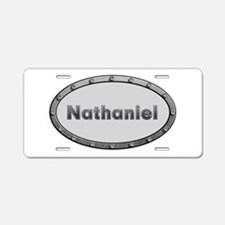 Nathaniel Metal Oval Aluminum License Plate