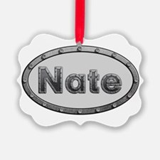 Nate Metal Oval Ornament
