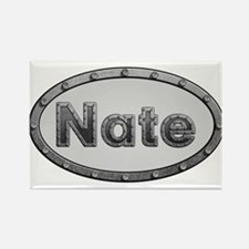 Nate Metal Oval Magnets