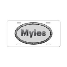 Myles Metal Oval Aluminum License Plate
