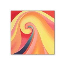 Modern Twist on O'Keeffe Sticker
