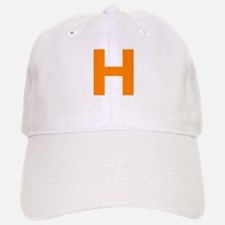 Letter H Orange Baseball Baseball Baseball Cap
