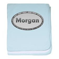 Morgan Metal Oval baby blanket