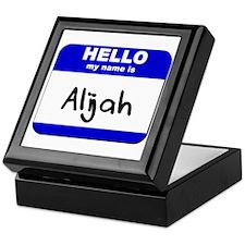hello my name is alijah Keepsake Box