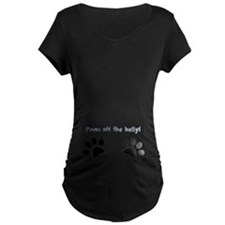 Paws Off The Belly! Dark T-Shirt