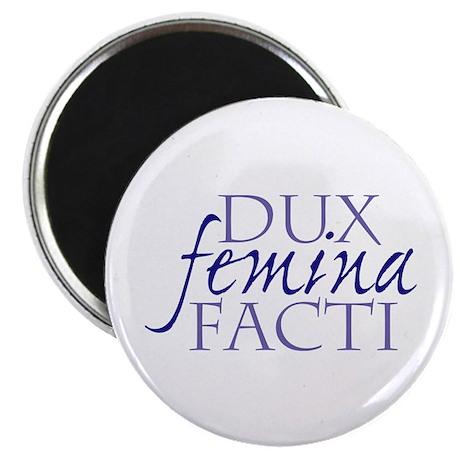 """dux femina facti 2.25"""" Magnet (10 pack)"""