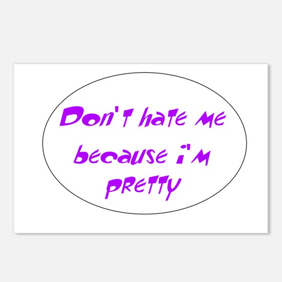 Dont hate me because im pretty Postcards (Package