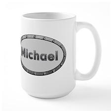 Michael Metal Oval Mugs