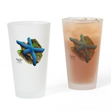 Blue Sea Star Drinking Glass