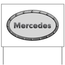 Mercedes Metal Oval Yard Sign