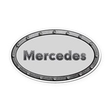 Mercedes Metal Oval Oval Car Magnet