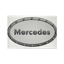 Mercedes Metal Oval Magnets