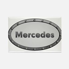 Mercedes Metal Oval Magnets
