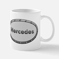 Mercedes Metal Oval Mugs
