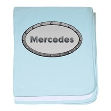 Mercedes Metal Oval baby blanket