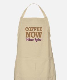 Coffee Now Wine Later Apron