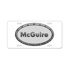 McGuire Metal Oval Aluminum License Plate