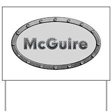 McGuire Metal Oval Yard Sign