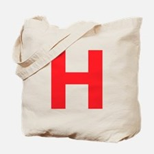 Letter H Red Tote Bag