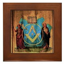 The Holy Saints John Tapestry Translit Framed Tile