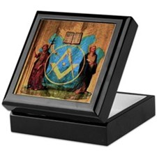 The Holy Saints John Tapestry Keepsake Box