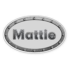Mattie Metal Oval Decal