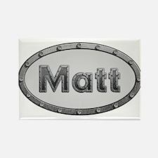 Matt Metal Oval Magnets