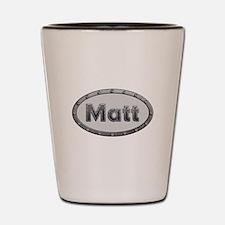 Matt Metal Oval Shot Glass