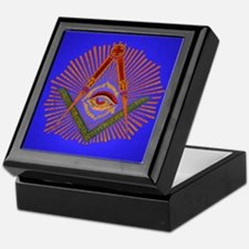 Freemason Square And Compass Keepsake Box
