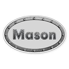 Mason Metal Oval Decal