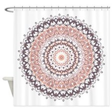 Autumn Leaves Mandala Shower Curtain