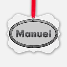 Manuel Metal Oval Ornament
