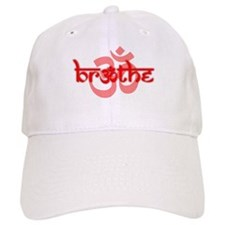 Breathe With Om (red) Baseball Cap