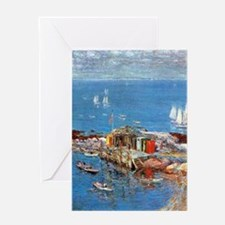 August Afternoon, Appledore by Hassa Greeting Card