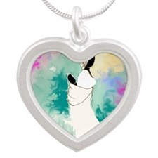 Silver Heart Necklace (lady With Basket) Necklaces