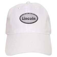Lincoln Metal Oval Baseball Baseball Cap