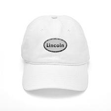 Lincoln Metal Oval Baseball Baseball Cap