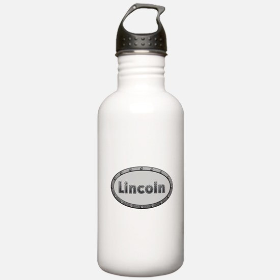 Lincoln Metal Oval Water Bottle