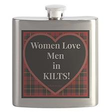 Women Love Men In Kilts Flask