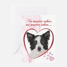 Border Collie Valentine Greeting Card