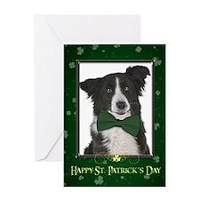 Border Collie St. Patricks Day Greeting Card