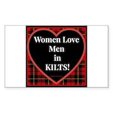 Women Love Men In Kilts Decal