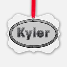Kyler Metal Oval Ornament