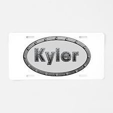 Kyler Metal Oval Aluminum License Plate