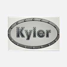 Kyler Metal Oval Magnets