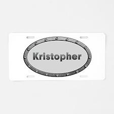 Kristopher Metal Oval Aluminum License Plate
