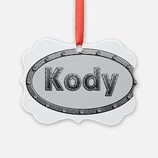 Kody Metal Oval Ornament