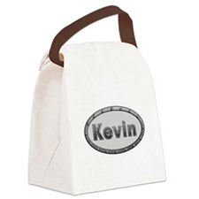 Kevin Metal Oval Canvas Lunch Bag