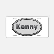 Kenny Metal Oval Aluminum License Plate